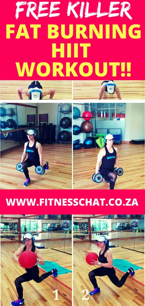 High-Intensity Interval Training (HIIT) saves time and boosts metabolism. What makes HIIT  workout effective as a fat burning workout is that it produces excess post-oxygen consumption, (EPOC). Try this free fat burring HIIT workout