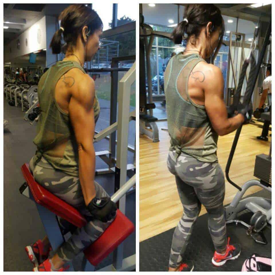 Tercia Dawes gym workout