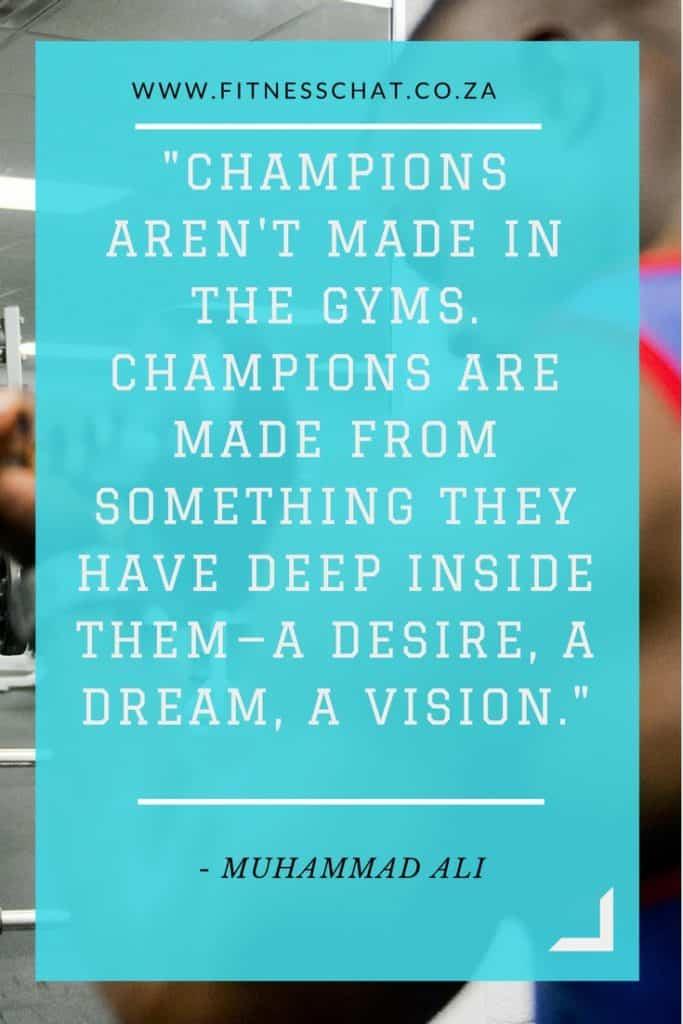 Muhammad Ali fitness quote